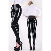 Leggins Latex Pvc Brillosos Pantalones Ajustados Sp0