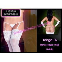 Set De 6 ¡¡¡ Sexy Y Atrevida Tanga Con Liguero Integrado Vmj