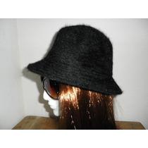Nueva Boina Gorro Sombrero Angora Negro Mujer Invierno