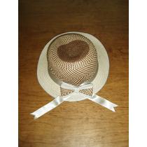 Hermoso Sombrero Corte Tipo Ingles Con Moño Maa.