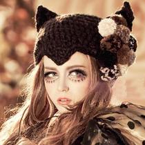 Sombrero Orejas Gato Cuernos Diablo Moda Koreana Asiatica
