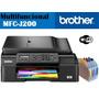 Brother Mfc J200 4en1 Wifi Adf 24/10ppm C/ Sistema De Tinta