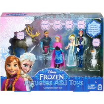 Frozen Set Anna Elsa Olaf Sven Kristoff Hans Original Mattel