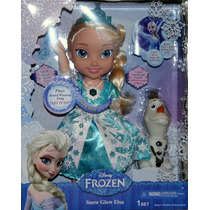 Snow Glow Elsa Y Olaf Frozen Muñeca Habla Ingles Y Español
