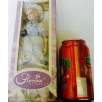 Muñeca De Porcelana!!florina! Incluye Base!!! Sin Uso!