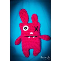 Conejo Rosa Muñeco Tejido Crochet Amigurumi