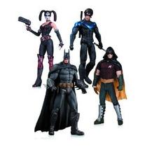 Arkham City: Harley Quinn Batman Nightwing Y Robin Figura De