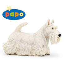 - Scottish Terrier Toy Papo 54028 Detallada Blanca Animal