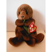 Peluche Ty Beanie Babies Seaweed Nutria Marina Otter Toy