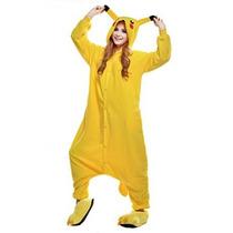 Newcosplay Unisex Pikachu Pijamas Kigurumi Traje De Hallowee