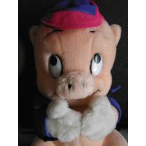 Peluche Porky Pig Looney Tunes Warner 1987 Vintage Retro