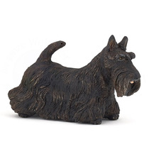 - Scottish Terrier Toy Papo 54032 Detallada Negro Animal