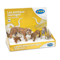 Gato Figura Set - Big Cats Display Box 4x Cats Wild Animal