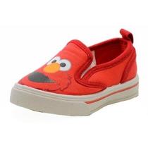 Zapato Sesame Street Elmo Niño Ses702 Moda Mocasín Lienzo