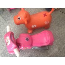 Moto Para Niña Y Muñeco Para Brincar