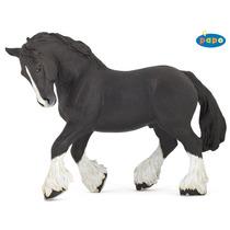 Caballo De Juguete - Negro Shire Corral Animal Figura Modelo