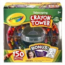 Crayola 150-conde De Almacenamiento Caso Telescópica Crayon