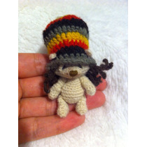 Mini Oso Tejido Lana Amigurumi Crochet