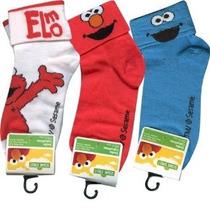Sesame Street Elmo Y Cookie Monster Calcetines Gemelos 6/8 1