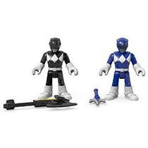 Fisher-price Imaginext Power Rangers Ranger Azul Y Negro Gua