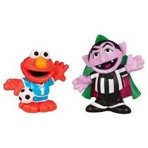 Sesame Street Playskool Fútbol Amigos Count Von Count Y Elmo