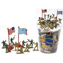 Soldados - Color Bolsa De 44 Con La Bandera Para Niños Jugu