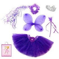 5 Pieza Sparkle Fairy Princess Costume Set Plus Bolsa Regalo