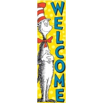 Eureka Dr. Seuss Vertical Aula Banner Gato En El Sombrero Bi