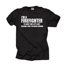 Soy Bombero Camiseta Profesión Camiseta Divertida