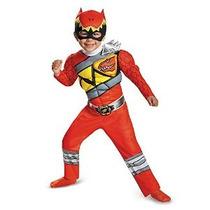 Disfraz Ranger Rojo Dino Carga Niño Muscular Vestuario Grand