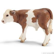 Vaca Estatuilla - Schleich Farm Life Simmental Becerro Juego