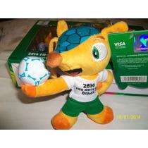 Fuleco-copa Mundial Fifa Brasil 2014-figura Plush Toy-17cms