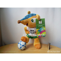 Peluche Fuleco Mascota Mundial Fifa Futbol Brasil 2014 Fut34