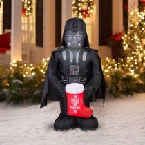 Inflable De Darth Vader Navideño De 1,60 Metros Envio Gratis