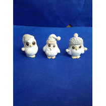 Búhos De Resina 3 Modelos
