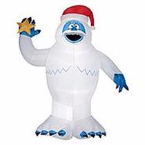 Inflable Navideño Pie Grande Abominable Hombre De Las Nieves