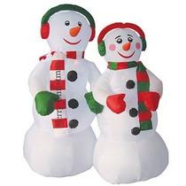 Muñeco Mono Nieve Inflable Adorno Navidad Iluminacion