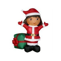 Dora Mono Exploradora Inflable Adorno Navidad Navideño