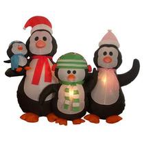 Pingüinos Inflables Iluminacion Navidad Decoracion Navideños