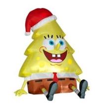 Inflable Adorno Navideño Con Iluminacion Bob Esponja Navidad