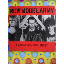 New Model Army Lp Light Go Out & Poison Street 1986 Usa.