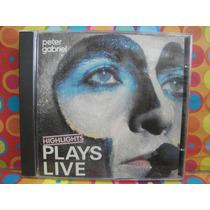 Peter Gabriel Cd Plays Live Edic.84 Made In U.k
