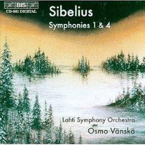 Jean Sibelius Sinfonias 1 & 4 Bis Cd Suecia Envio Gratis