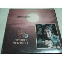 Disco Lp Juan Torres - Organo Melodico Volumen 21 -