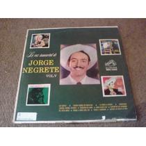 Disco L.p Jorge Negrete