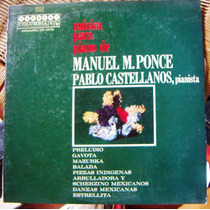 Clásica, Manuel M. Ponce, Música Para Piano, Lp 12´, Idd.