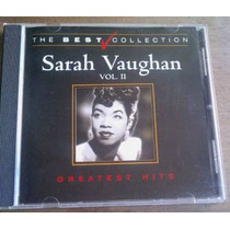 Sarah Vaughan Greatest Hits Vol 2 Cd Nacional Unica Ed 2001