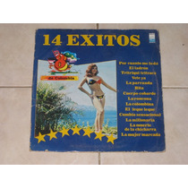 Los 8 De Colombia 14 Exitos Disco Lp Acetato Vinil