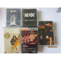 Rock Ac Dc Lote De 5 Cassettes Importados / Hm4