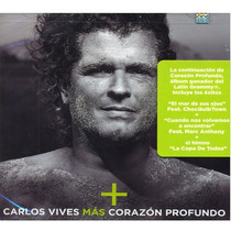 Carlos Vives / Mas Corazon Profundo / Cd / Con 12 Canciones